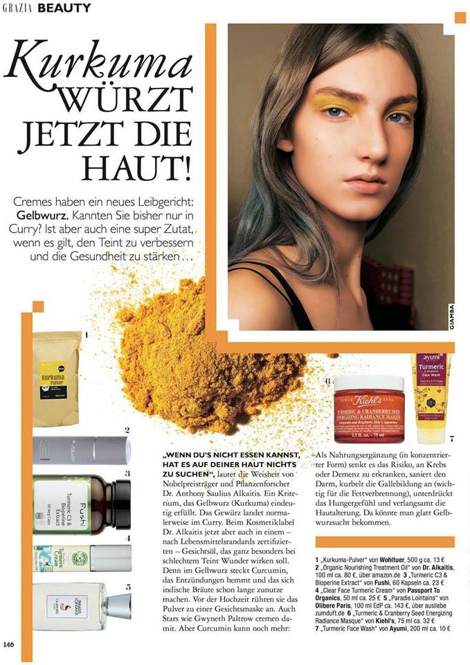 Olibere in Grazia Magazine Germany