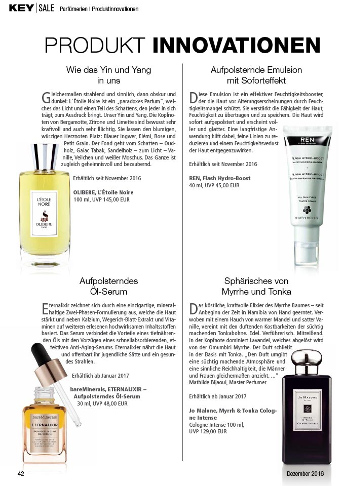 Olibere in Key Sale Magazin Germany