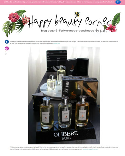 Olibere in Happy Beauty Corner